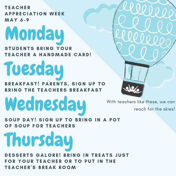 TVCS Teacher Appreciation Week